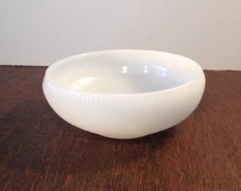 E. O. Brody Milk Glass Striped Bowl