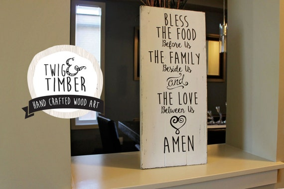 Blessings Wood Sign - Custom Color Choice - MADE TO ORDER!