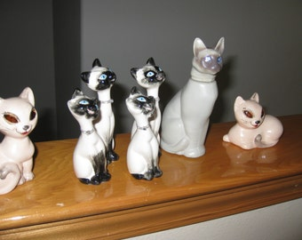Lot of CATS Siamese Kitties and Collection! 7 pieces