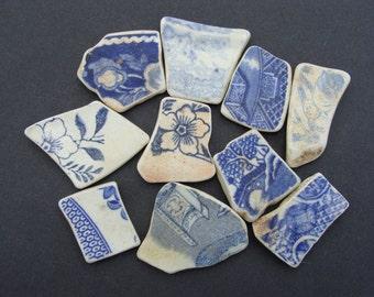 English Sea Pottery Shards Long - Collector or Mosaic -  Artifact..(002)