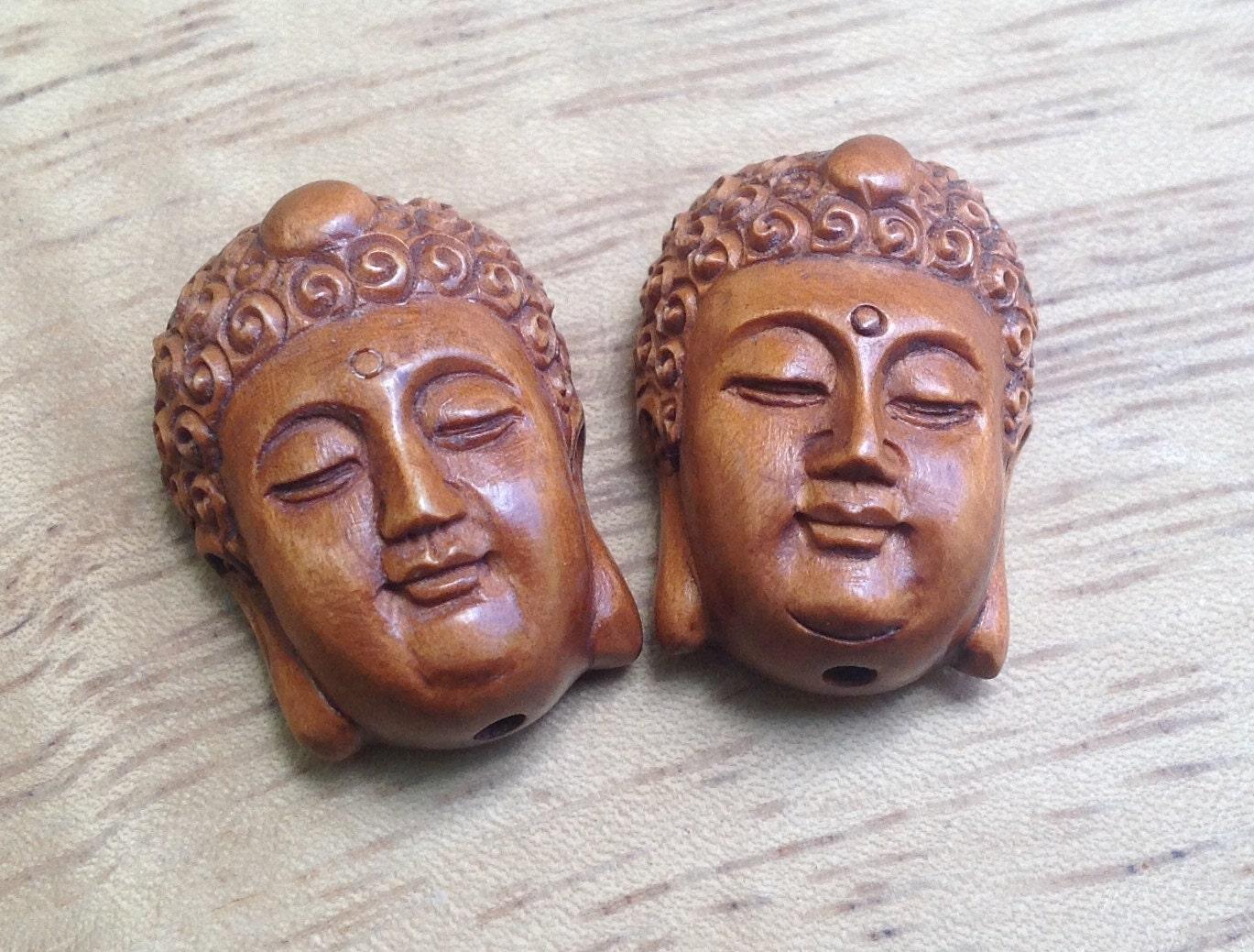Hand carved boxwood ojime bead