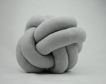 Petite Grey Knot Cushion Pillow