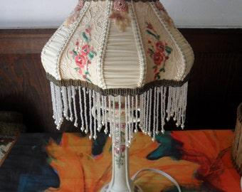BEADED LAMPSHADE HANDMADE