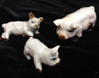 3 Vintage bone China miniature