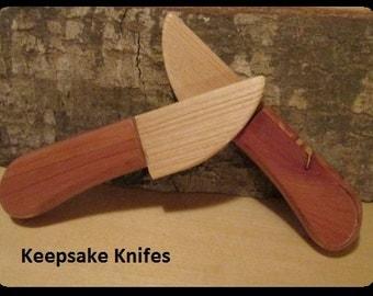 Wooden toy keepsake knifes