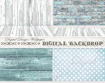 Digital Backdrop,Digital Background,Photograhy Backdrop,Newborn Photo Backdrop,White Wood Texture Backdrop,White Wood Backdrop,Brick Wall