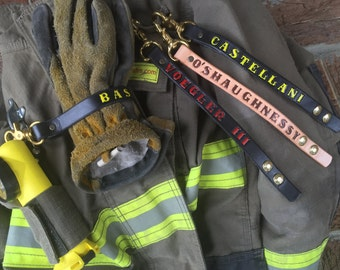 "3/4"" Firefighter Leather Glove Strap"