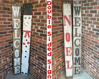 Wood Christmas signs, Wood Christmas decor, Christmas decorations, Snowman decor, Noel signs, Snowman Signs, Noel decor, Xmas decor, Welcome