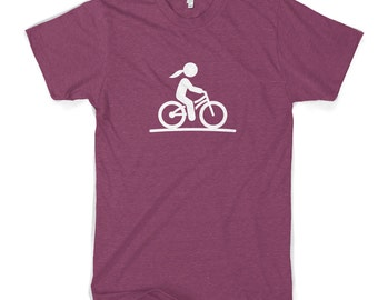 Girl On Bike Women's Cotton T-Shirt