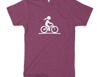 Girl On Bike Women's Cotton T-Shirt