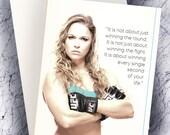 UFC Legend Ronda Rousey Inspiration Card, Birthday Card, Anniversary Card, Happy Birthday Card, Any Occasion Card, UFC Ronda Rousey Card