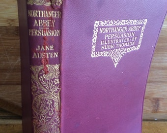 Jane Austen - Northanger Abbey - Persuasion - Antique Austen - 1920s book - gothic novel - classic English novel