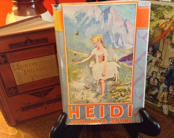 HEIDI by Johanna Spyri, 1925 antique Edition with Original Jacket Grosset Dunlap