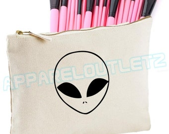 Alien Make Up Bag  ufo spaceship planet makeup girls womens Case Makeup Gift Clutch bag accessory bag fashion swag dope gift tumblr hipster