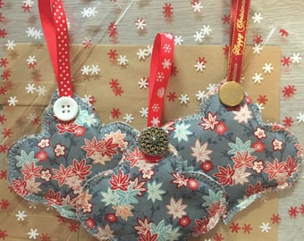Fabric Christmas Baubles