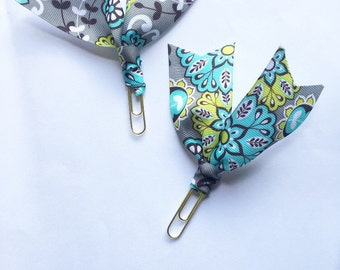 One Paisley ribbon paperclip