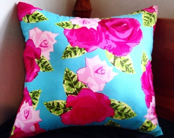 Hot and Baby Pink Floral Pillow