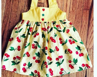 Girl cherry dress