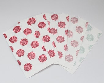 """White kraft paper bags decorated Paper bags Pink shades """"Confettata"""" Wedding Anniversary Food packaging"""