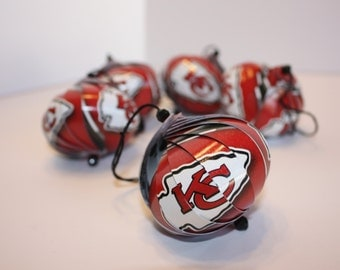 Kansas City Chiefs NFL Ornaments : Single or Set of 5