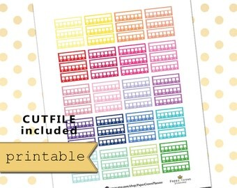Printable Planner Stickers/Planner Stickers for use with Erin Condren Life Planner/Habit Tracker Planner Sticker Kit/To Do/Silhouette