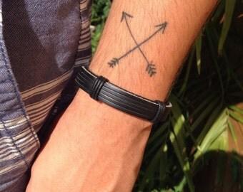SALE 60% leather mens Bracelet
