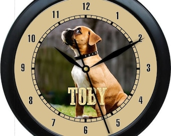"""Boxer 10"""" Personalized Wall Clock Gift"""