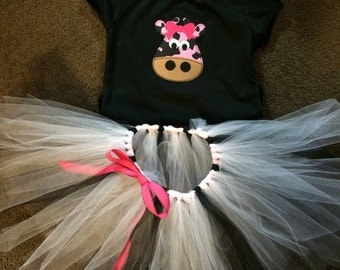 Cow Tutu Outfit