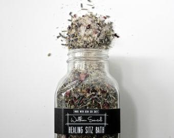 Organic Herbal Sitz Bath · 16oz · healing bath salts · postpartum sitz bath · organic baby shower gift