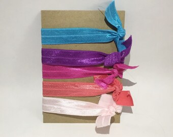 Multi Colored No Crease Elastic Hair Ties