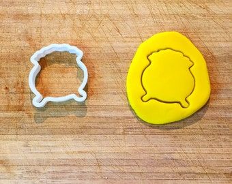 Pot of Gold Cookie Cutter, St. Patrick's Day Cookie Cutter, 3D Printed