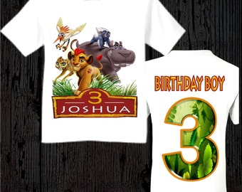 Lion Guard Birthday Shirt - Lion Guard Shirt - Many Styles Available