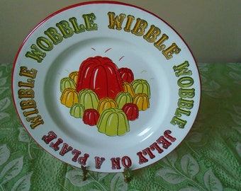 jelly on a plate enamel ware plate