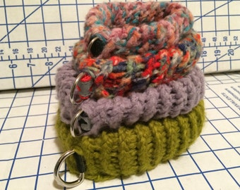 Knitted Dog Collar (Any Color) Made to Order