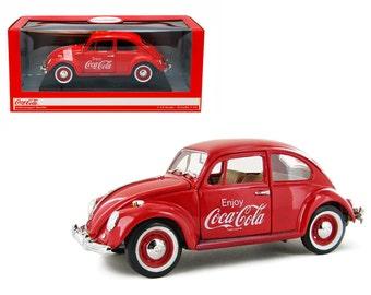 1967 Volkswagen Beetle Enjoy Coca Cola 1/18 Diecast Car Model