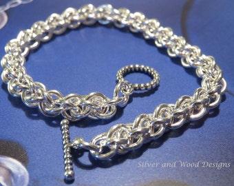 Handmade Sterling Silver Jens Pind Spiral Rope Bracelet