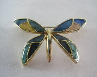 Vintage Designer Costume Butterfly Brooch