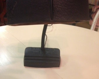 Vintage Gooseneck Desk Lamp With Cast Iron Base