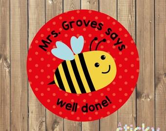 Personalized Teacher Stickers, Reward Stickers, Praise Stickers, School Stickers, New Teacher Gift Idea, Teacher Gift, Custom Stickers