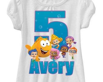 bubble guppies birthday shirt