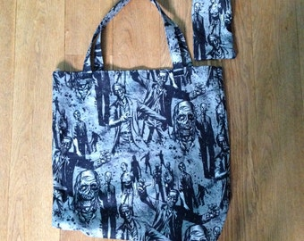 Zombie tote bag shopper bag
