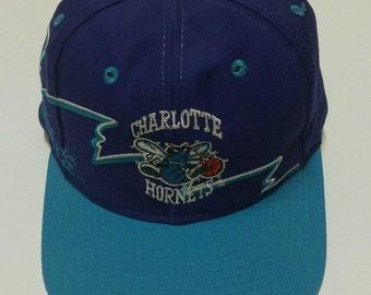 Charlotte Hornets Vintage Snapback Hat Logo 7