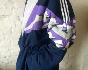Vintage ADIDAS Coat / Jacket XL 90's Navy Purple