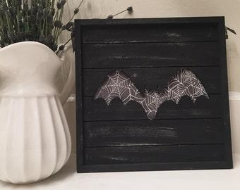 Weathered Bat Door Hanger