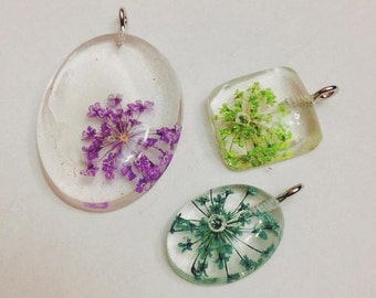 Clear Flower Pendant