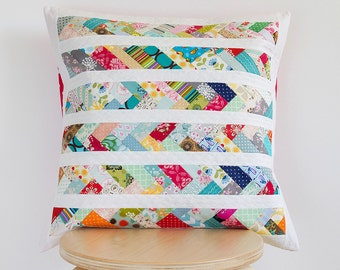 Decorative pillow cover 20in x 20in - Handmade patchwork