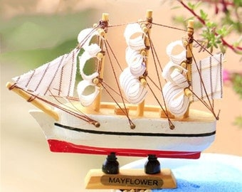 Miniature Antique Boat, Classic Yacht, Model Ship for Decoration, Home Decor, Photography Props, Display ornament