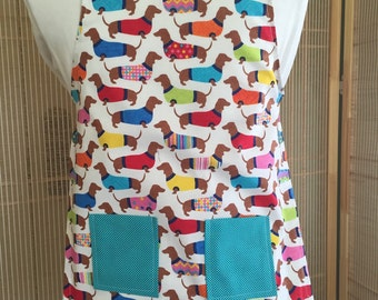 Dachshund apron , dog apron , childs apron