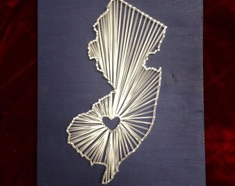 MADE TO ORDER: New Jersey String Art- 11x14""