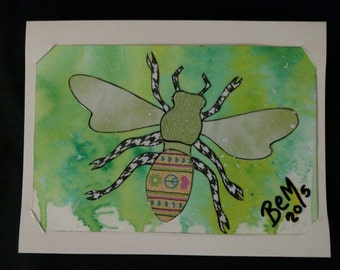 2 HoneybeeArtCardz - Creatures Great and Small line